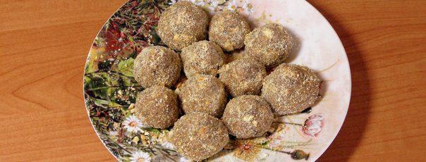 Конфеты из фиников и грецких орехов